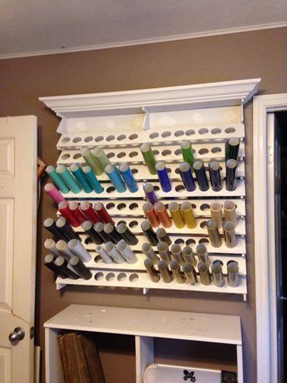 Craft vinyl storage or craft paint storage kit for Diy vinyl storage