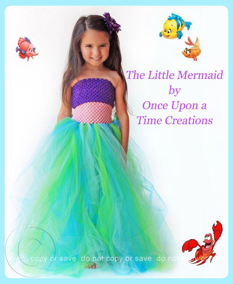Disney Little Mermaid Tutu Dress inspired Girl's Costume Party ...