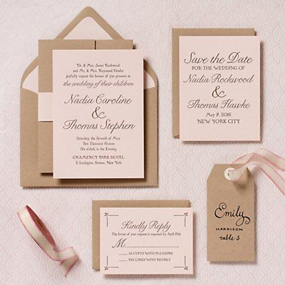 Modern Blush Wedding Invitation Suite Maybe With Ivory Or Gold Envelopes