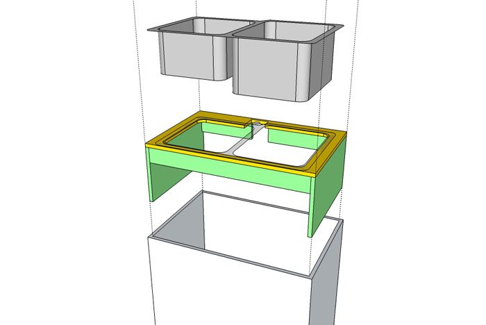 Undermount Sink, Building A Support.