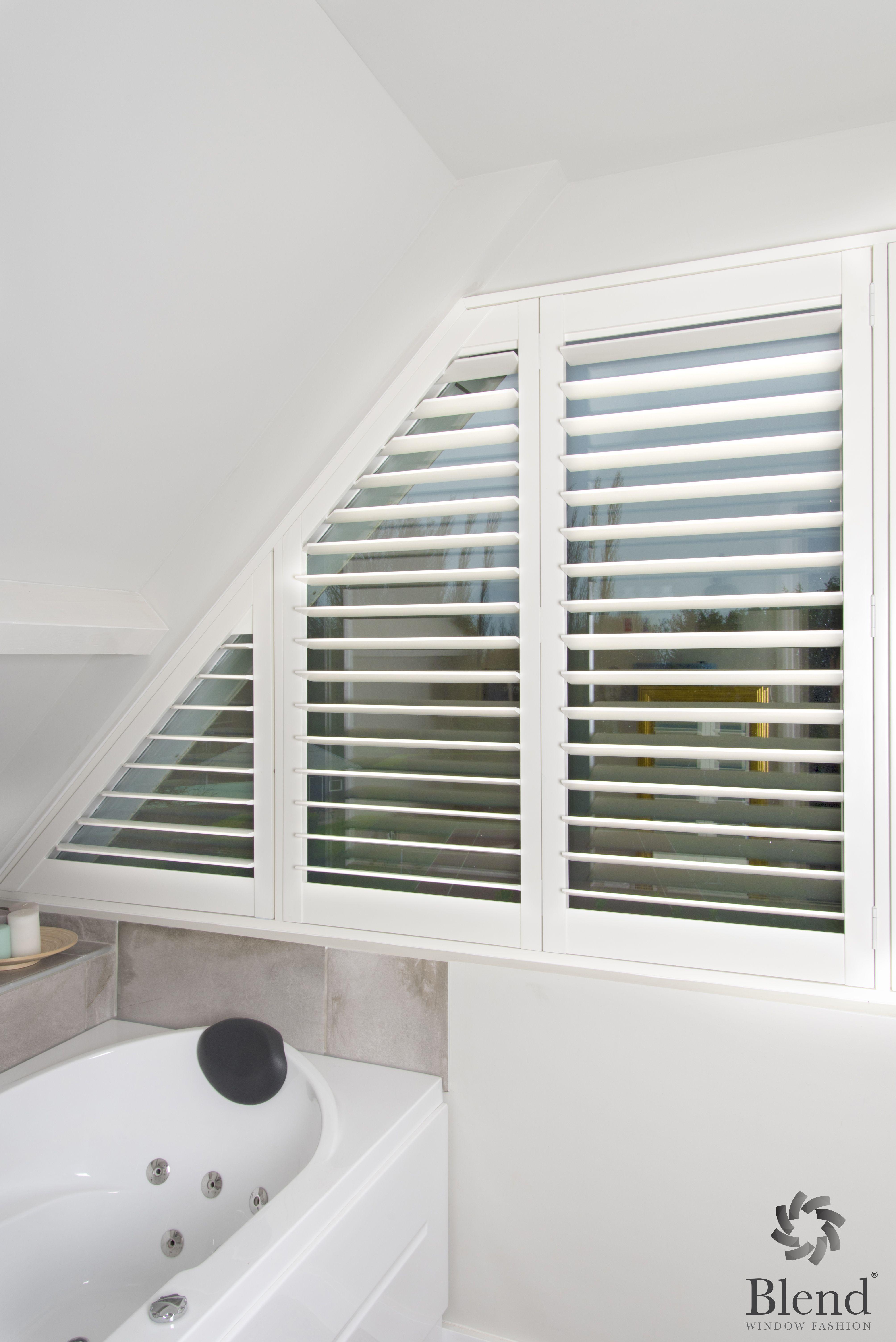 Wij leveren ook shutters voor speciale raam vormen. Zie hier een ...