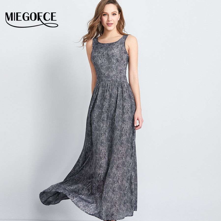 Women formfitting long summer dress chiffon sleeveless slip maxi