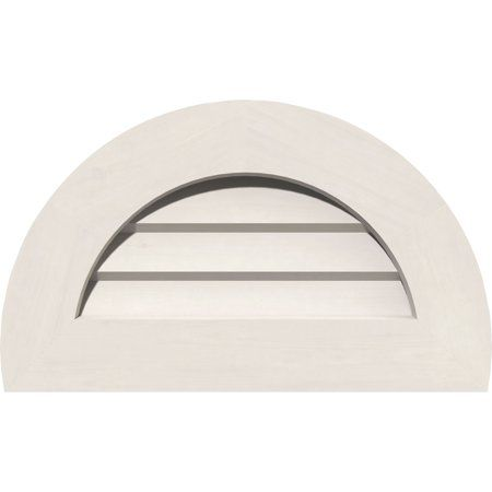 28 Inchw X 14 Inchh Half Round Gable Vent 33 Inchw X 19 Inchh Frame Size Non Functional Pvc Gable Vent W 1 Inch X 4 In Gable Vents Ekena Millwork Millwork