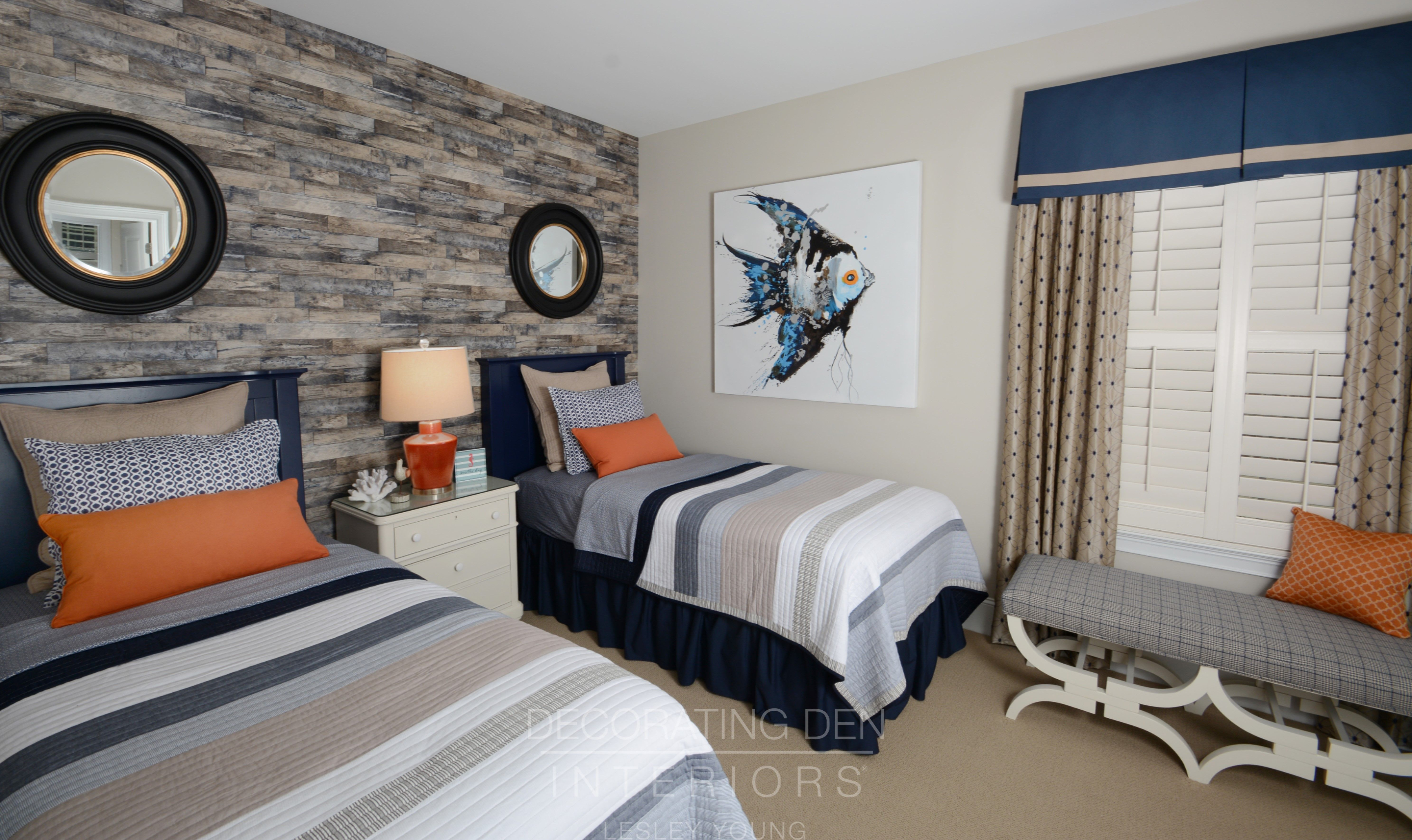 Adorable guest bedroom with nautical theme done in blue ...