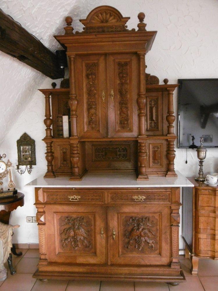 antikes buffet anrichte schrank gr nderzeit eiche um 1870 gr nderzeit pinterest m bel. Black Bedroom Furniture Sets. Home Design Ideas