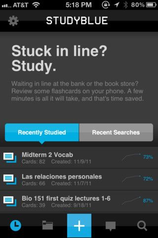 STUDY BLUE - App available A popular study tool among the secondary