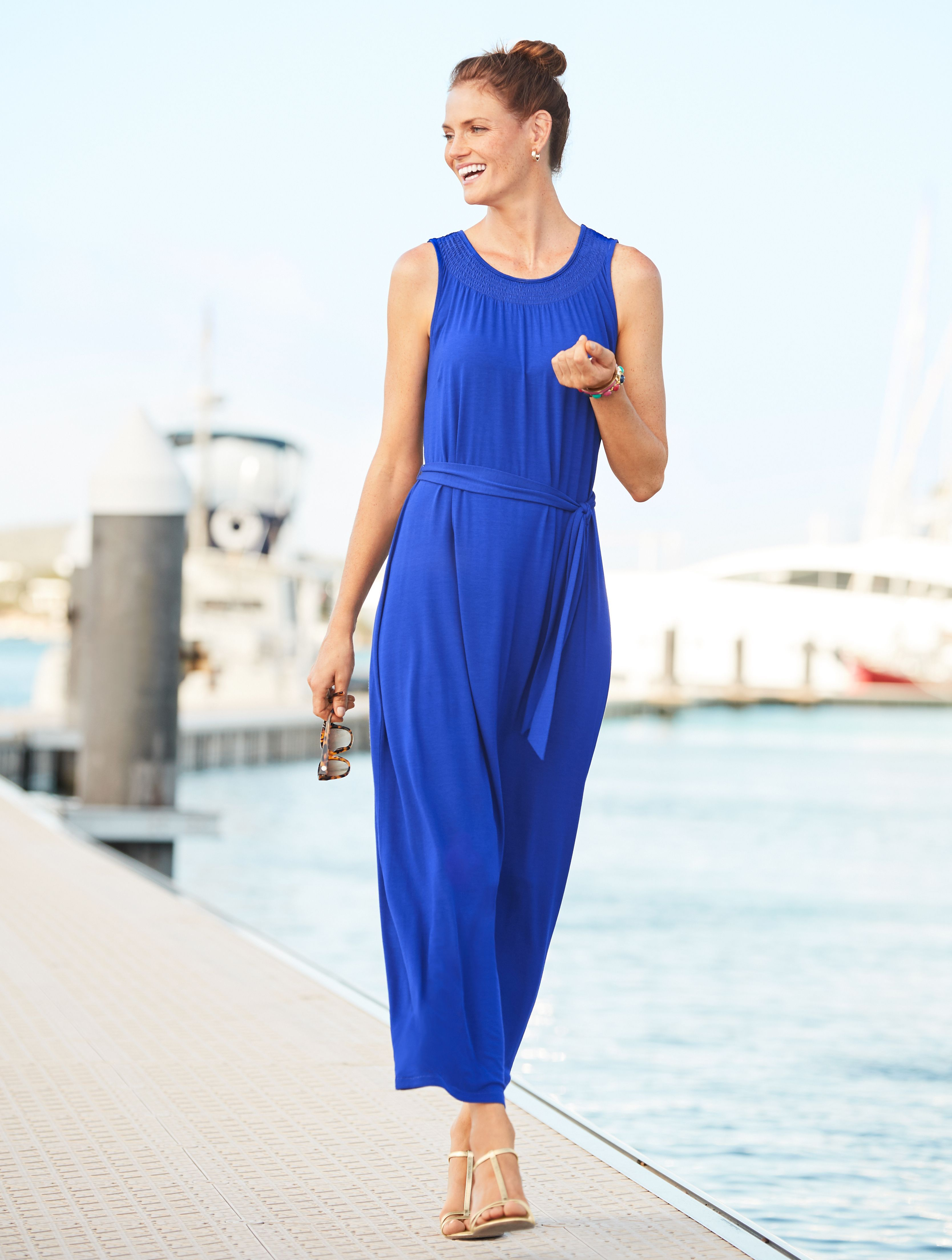 Our New Must Have Maxi Dress Goes Just About Anywhere From Beach To Bistro Add A Soft Shrug When It Gets Cool Talbots Maxi Dress Dresses Fashion [ 4413 x 3336 Pixel ]