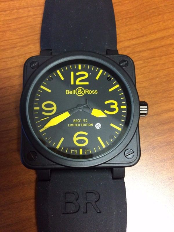9fbb4a80a6 Bell   Ross BR01-92 Limited Edition Automatic Wrist Watch - Black Yellow