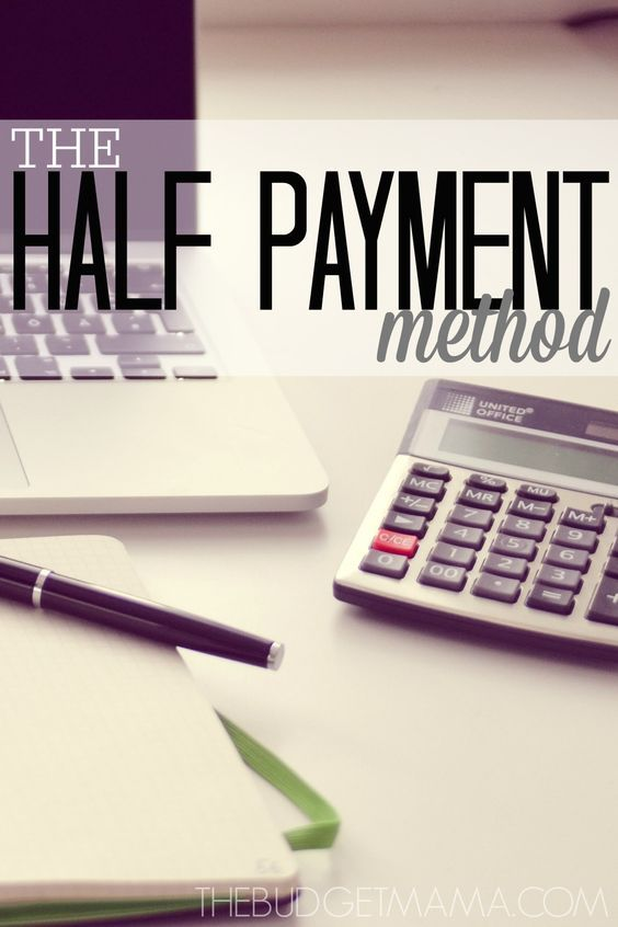 The Half Payment Method Money Pinterest Budgeting, Money and