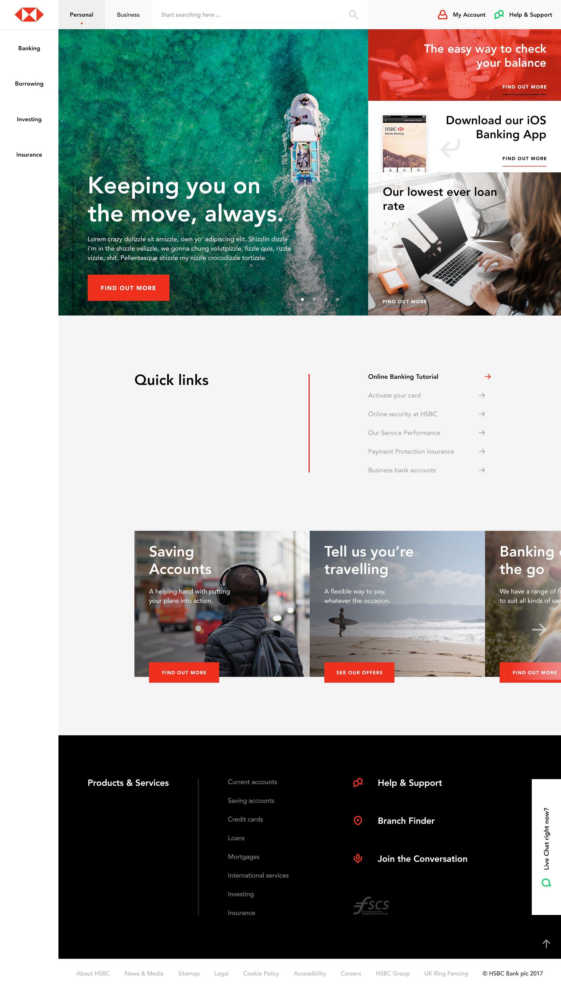 HSBC (Concept) – MRKODNGHE | 2017 new | Web design, Design