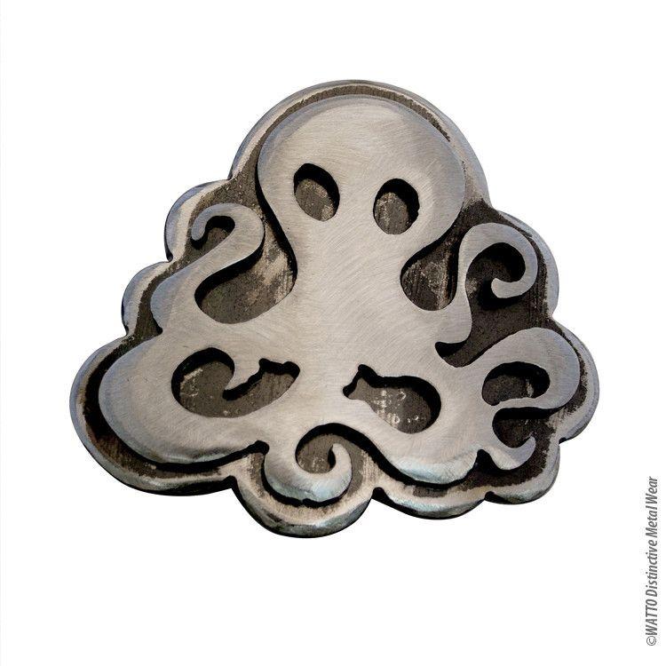 Steampunk Octopus Belt Buckle /Large / Handmade
