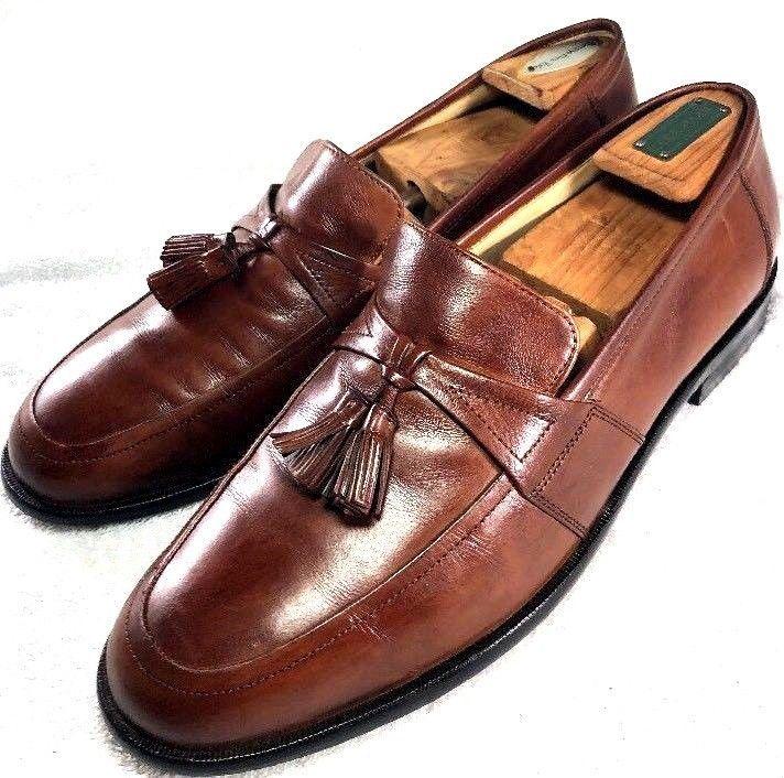 faa8f61e4fe Johnston   Murphy Men s Horner Brown Leather Tassel Loafer Size 11M dress  shoes