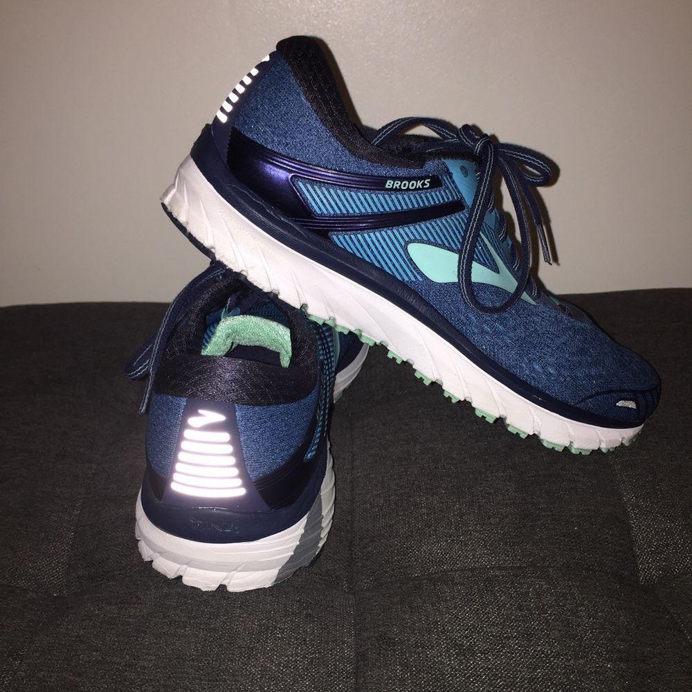 33b1d26caaee1 Women s Brooks Adrenaline GTS 18 Navy Teal Mint Running Shoe size 10   fashion