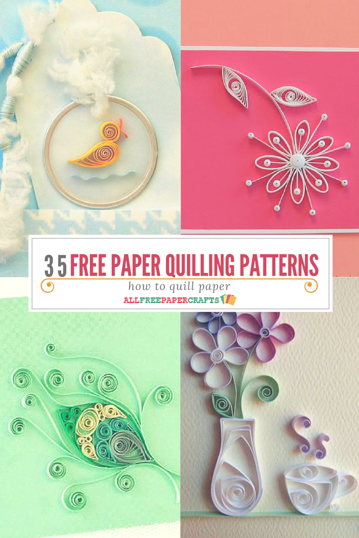 How to quill paper 40 free paper quilling patterns for Quilling craft ideas
