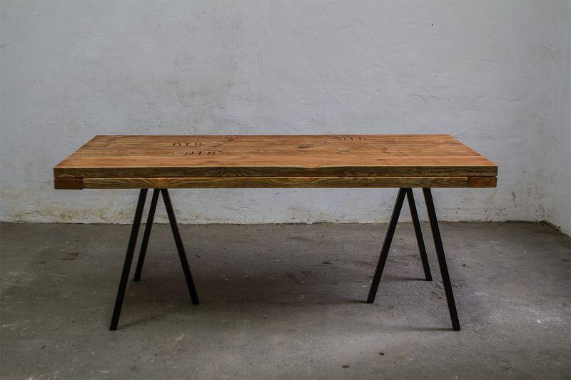 tischplatte bauholz dielen 180 x 90 cm von up cycle nachhaltiges wohn design auf. Black Bedroom Furniture Sets. Home Design Ideas