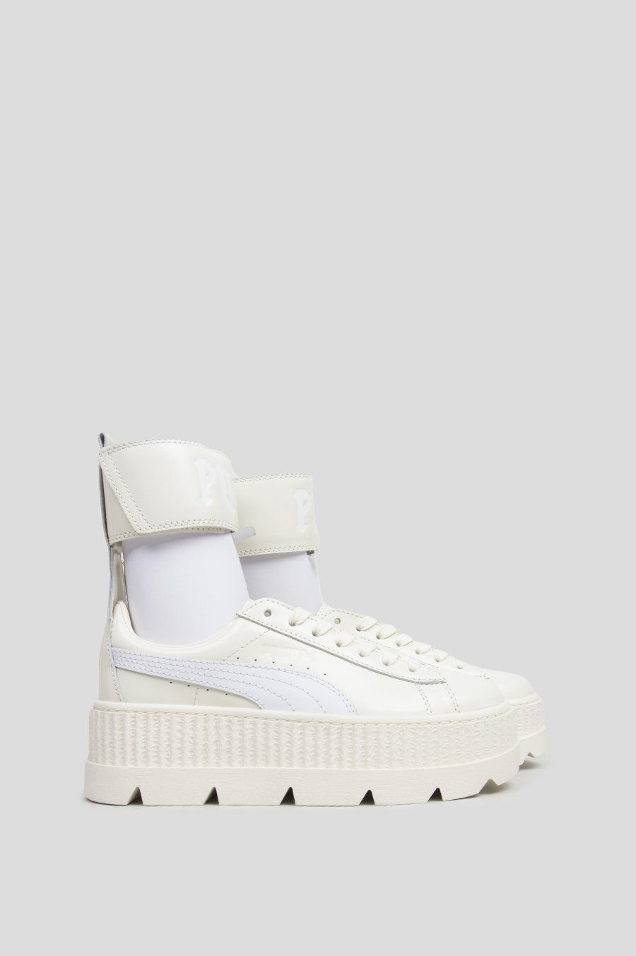70fa6d2d05fac PUMA BY RIHANNA WOMENS ANKLE STRAP SNEAKER VANILLA ICE WHITE Ankle Straps