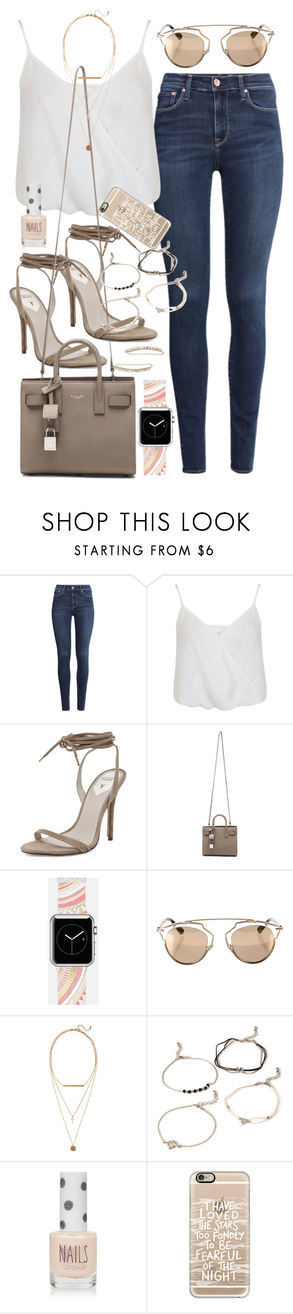 """""""Outfit with a Casetify Apple Watch Band and phone case"""" by ferned ❤ liked on Polyvore featuring H&M, Miss Selfridge, Windsor Smith, Yves Saint Laurent, Casetify, Christian Dior, Forever 21, Topshop, women's clothing and women's fashion"""