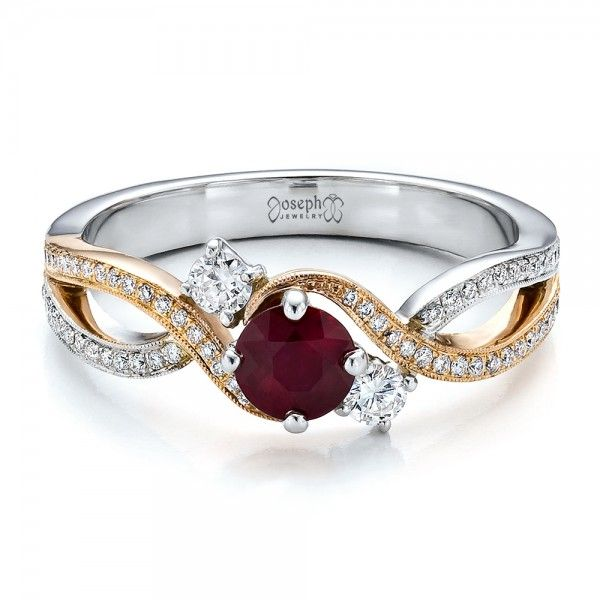 Custom Ruby And Diamond Engagement Ring In 2019