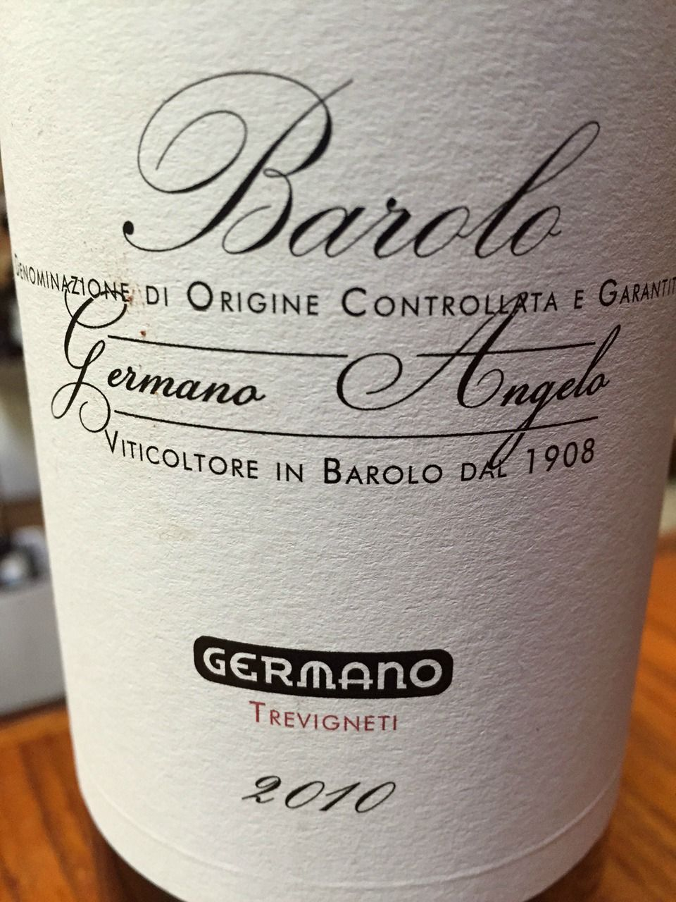 Angelo Germano Barolo 2010,  () from The BPW - Merchants of rare and fine wines.