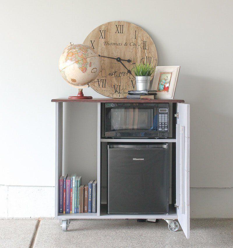 Loading Mini Refrigerator And Microwave Storage
