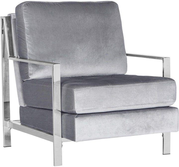 Strange Safavieh Walden Modern Tufted Velvet Chrome Accent Chair Cjindustries Chair Design For Home Cjindustriesco