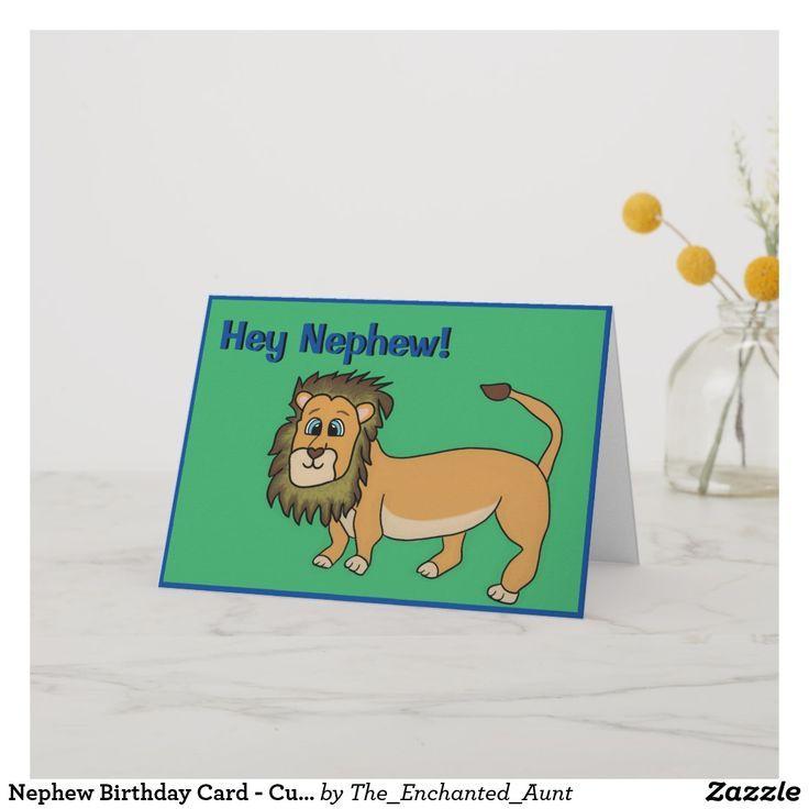 Nephew Birthday Card - Cute Lion | Zazzle.com | Birthday ...