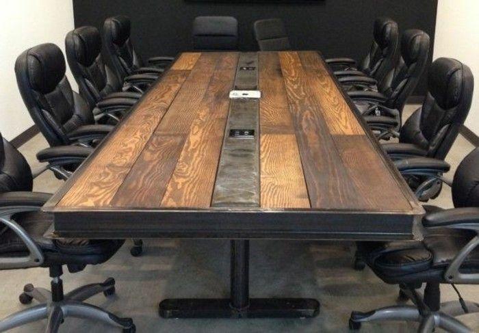 Couchtisch Holz Metall Design