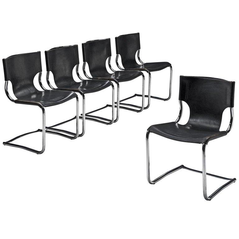 Excellent Set Of Carlo Bartoli Chairs Tubular Dining Italian Mid Creativecarmelina Interior Chair Design Creativecarmelinacom