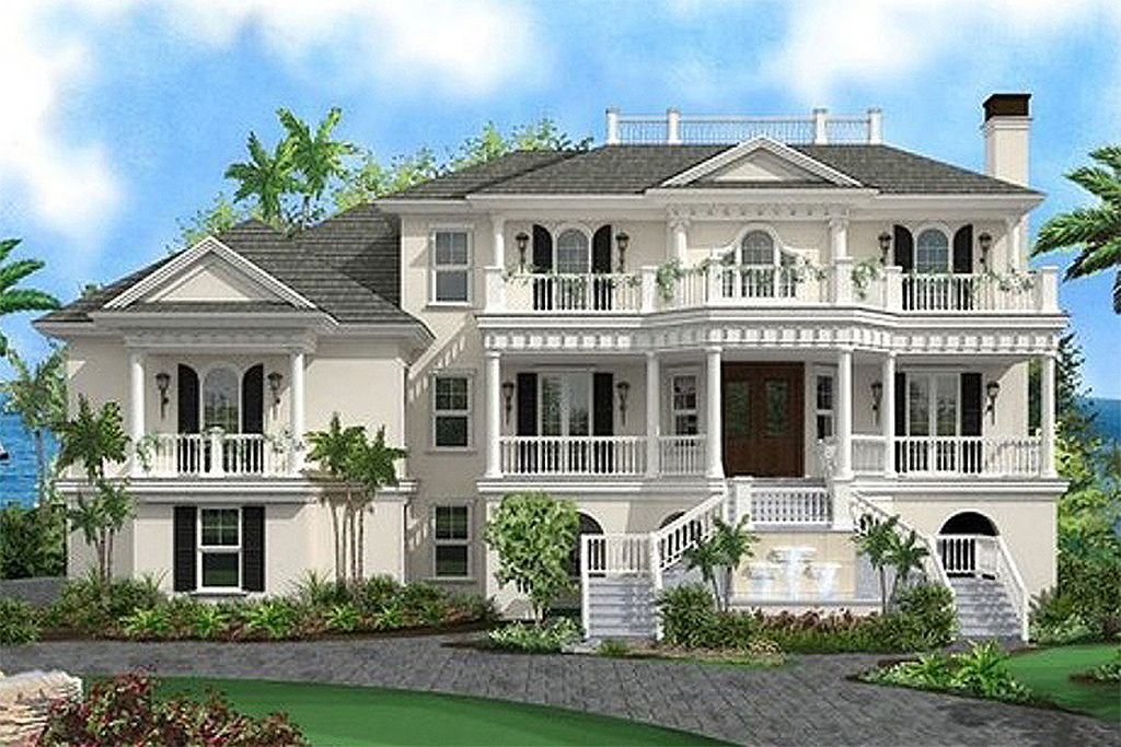 Beach Style House Plan 4 Beds 4 5 Baths 13717 Sq Ft Plan 27 480 Luxury House Plans Beach Style House Plans House Plans