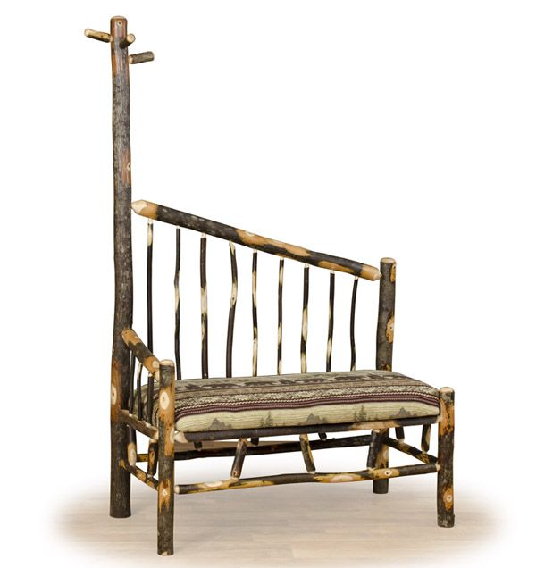 Log Bench With Coat Rack, Rustic Bench, Log Cabin Furniture | Woodland  Creek Furniture