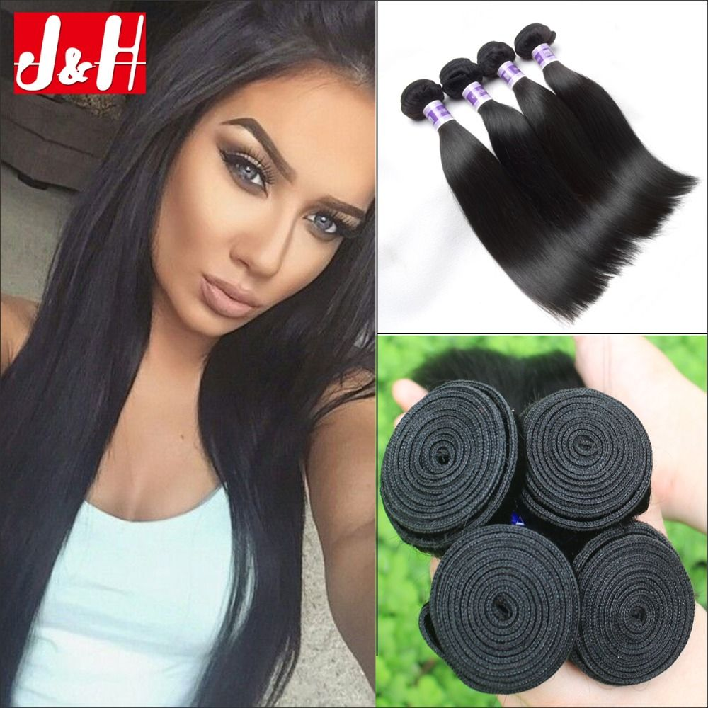 4pcslot Cheapest Brazilian Virgin Hair Silky Straight Unprocessed