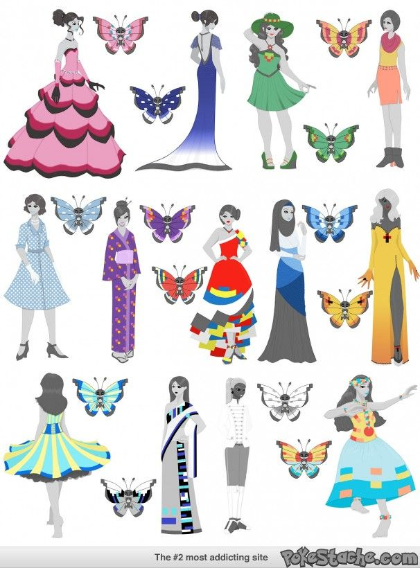 Thirteen Vivillon Patterns Turned Into Thirteen Outfits Pokestache Best Vivillon Patterns