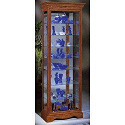 Philip Reinisch Lighthouse Octave III Eight Shelf Curio Cabinet