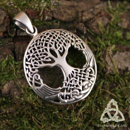 ARGENT STERLING ARBRE DE VIE EN Celtique Cercle Pendentif NOUVEAU 925