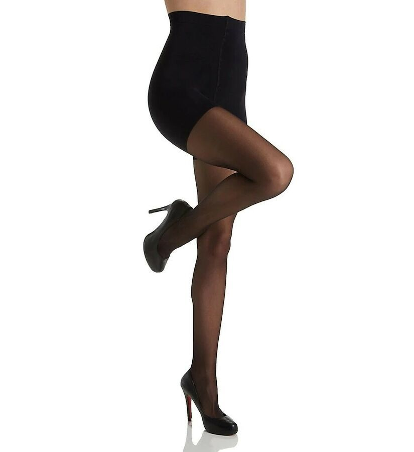 Mink NEW Silk Reflections Control Top Silky Opaque Tights 2 Pair