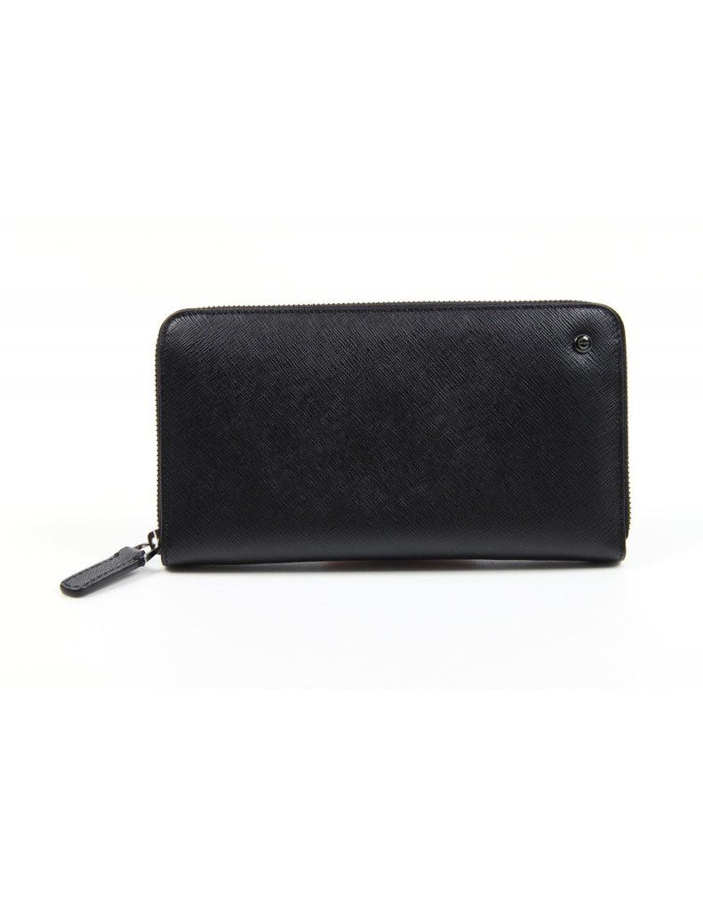 daa96d1367b2 Giorgio Armani Ladies Black Wallet Zip Wallet