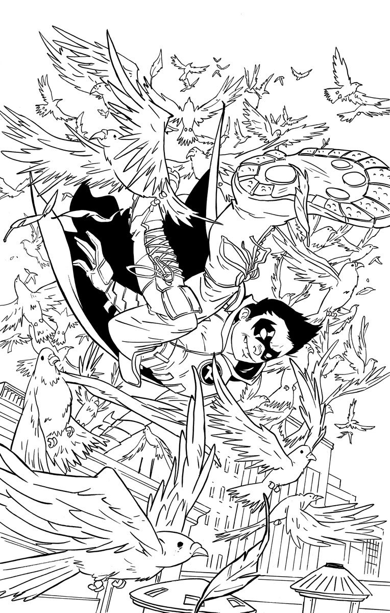 Batman and Nightwing Coloring Pages | LineArt: Batman-Family ...