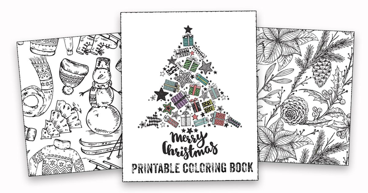 Download this FREE printable Christmas coloring book