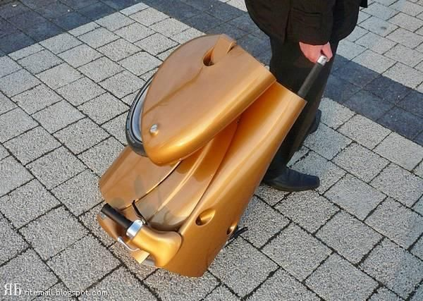 You can pack it like a suitcase and take it where ever you want. If you ever faced problems in parking then this scooter is perfect for you!