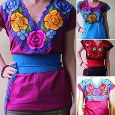 Nueva York muy elogiado fecha de lanzamiento blusa artesanal bordada de flores chiapas mayoreo | bordado ...