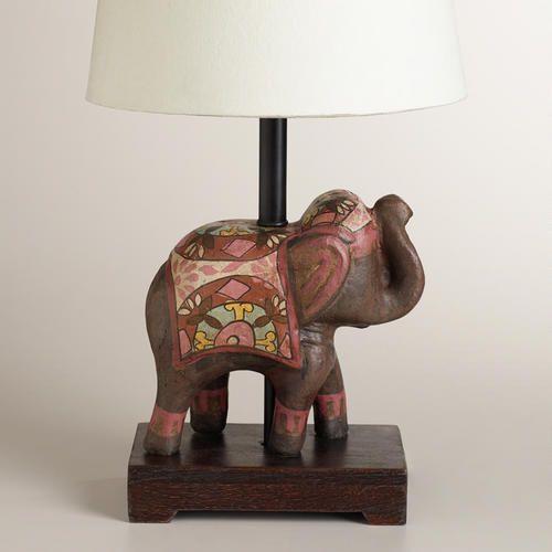 Indian Elephant Accent Lamp Base Elephant Lamp Lamp Indian Elephant