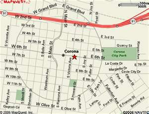 Current Map Of The Circle City Grand Ave Corona Ca Corona