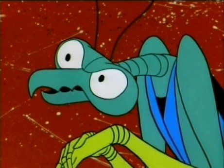 """""""My favorite episode of The Golden Girls is the one where they all took contaminated Geritol and died"""" ok ok i searched for that quote. Zorak is my favorite mantis. Love Space Ghost Coast to Coast. Re-watching it right now :) from when, u know, we bought disc sets. lol"""