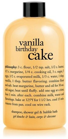 Philosophy Vanilla Birthday Cake Shampoo, Shower Gel