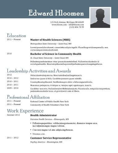 Free Resume Template By HloomCom  R    Functional