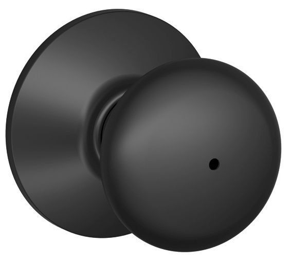 view the schlage f40ply622 matte black plymouth privacy lock door