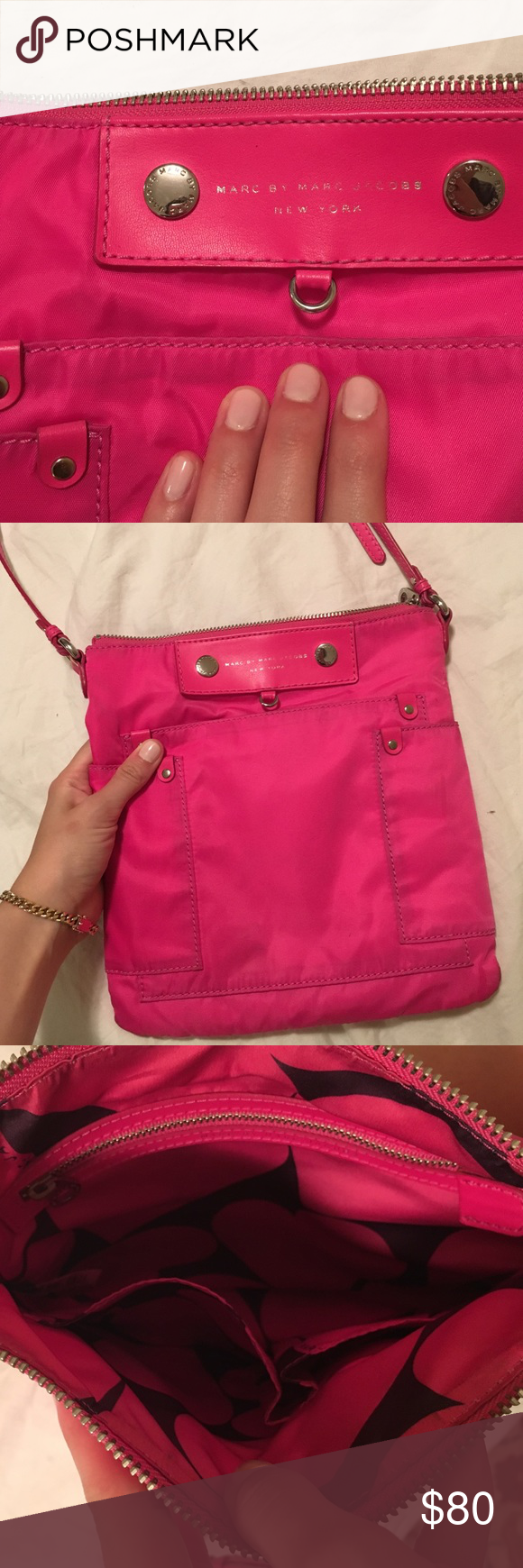 Marc by Marc Jacobs Cross Body Bag Beautiful lightly used pink Marc Jacobs bag. In good condition. Make an offer! Marc by Marc Jacobs Bags Crossbody Bags