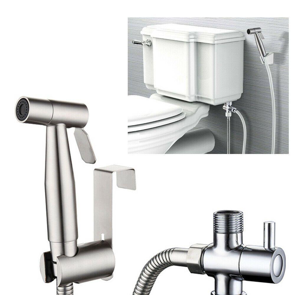 Details Sur Douchette Pour Wc Toilette Acier Inoxydable Bidet Sprayjet Douche Laiton Eu Plug Douchette Wc Wc Toilette Deco Toilettes