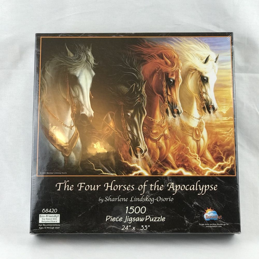 Four Horses of the Apocalypse Jigsaw Puzzle 1500 Pieces
