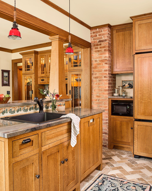 Craftsman Sears Kit House Remodel Craftsman Kitchen Cabinets